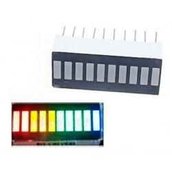 LED bar 10 segmentů (4 barvy)